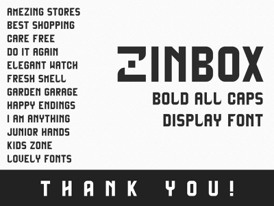 Zinbox - Free Display Font free for personal use hand drawn font hand made font bold font all caps typeface fonts design fonts display font type design sans serif font font free free fonts free font