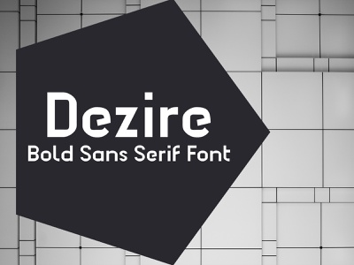 Dezire - Sans Serif Bold Font decorative bold font fonts design fonts typeface display font type design sans serif font font