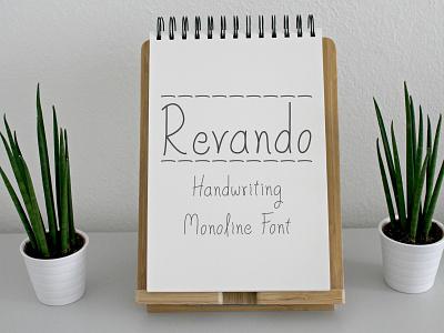 Revando - Handwriting Monoline Font typeface simple font playfull kids handwritten font handwritten handwriting font handwriting fonts design fonts type design sans serif font font