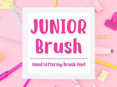 Junior Brush - Handwritten Brush Font tombow brush brush font hand lettered font hand lettering lettering display font type design typeface sans serif font font
