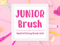 Junior Brush - Handwritten Brush Font