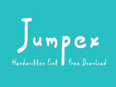 Jumpex – Handwritten Font handwritten font handmade font free download free fonts free fonts design typeface type design sans serif font font
