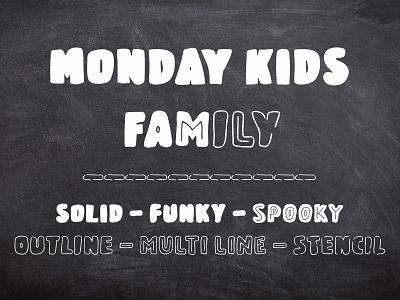 Monday Kids - Font all caps handwritten font bold font lettering fonts fonts design display font typeface type design sans serif font font