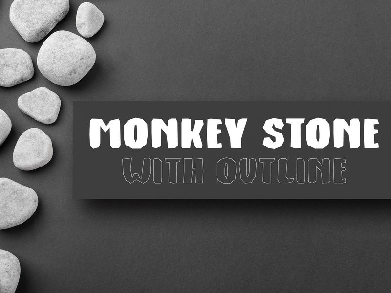 Monkey Stone - Display Font stone made font handmade font rock rock font stone age stone decorative all caps handwritten font bold font lettering fonts fonts design font display font typeface type design sans serif font