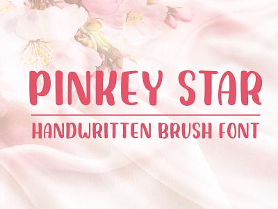 Pinkey Star - Handwritten Brush Font handmade font brush font all caps handwritten font bold font lettering fonts fonts design display font typeface type design sans serif font font