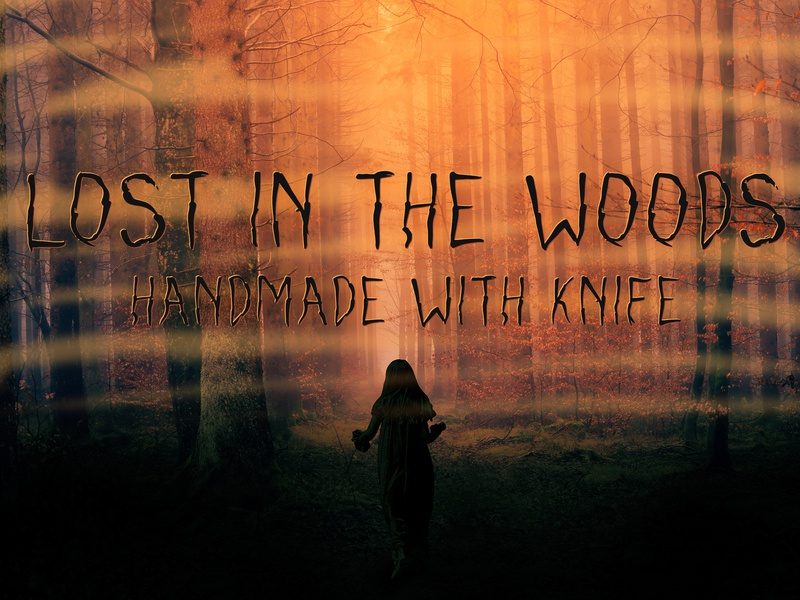 Lost in the woods - new knifewritten font handmade font decorative all caps handwritten font fonts fonts design display font typeface type design sans serif font font