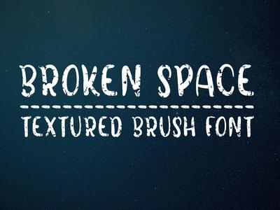 Broken Space - Handmade all caps brush font