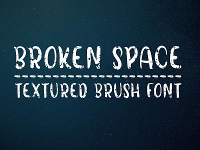 Broken Space - Handmade all caps brush font textured font brush font handmade font decorative bold font all caps handwritten font fonts fonts design display font typeface type design sans serif font font
