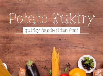 Potato Kukiry - A quirky handwritten serif font