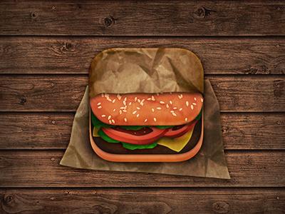 Burger icon ios icon food burger