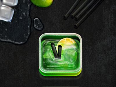 Mojito icon ios drink mojito icon app