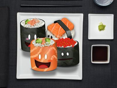 Sushi icons nighiri sashimi sushi ifeel ios app