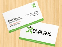 Business card - DUPLAYS