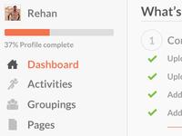 New Admin - Dashboard layout