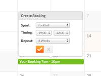 Booking Calendar Design