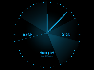 Smartwatch design clock for Android Wear