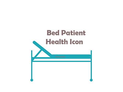 blue patient bed Health Icon patient bed health icon health icon