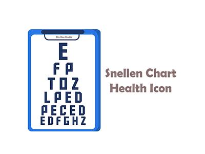 Snellen chart Health Icon snellen chart health icon health icon