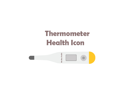 white and yellow Thermometer Health Icon thermometer health icon icon