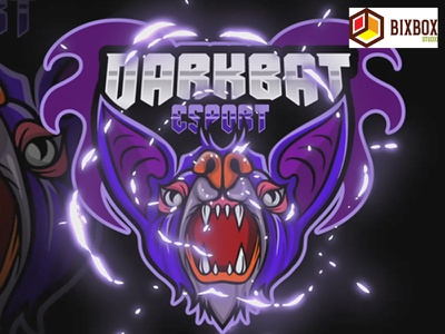 bixbox studio - Mascot Logo Dark Bat esport youtuber twitch mascot logo