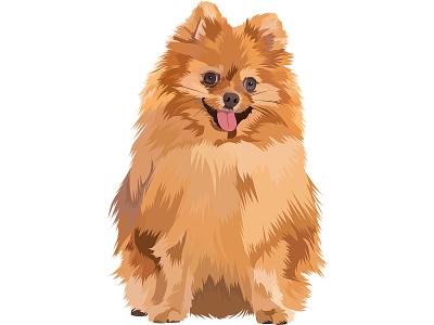 Pet Vector Art - Dog realistic vector art pet vector vector