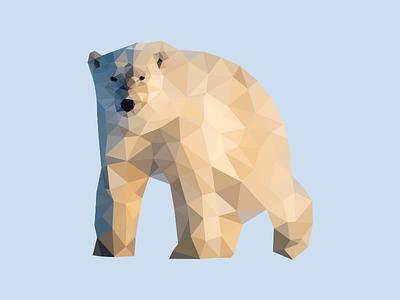 Poly Polar Bear polar bear low poly delaunay triangulation polygon poly