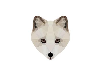Poly Arctic Fox arctic fox low poly symmetric triangulation polygon poly delaunay