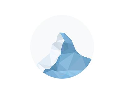 Matterhorn / Zermatt alps mark low poly logo triangulation delaunay poly polygon mountain switzerland zermatt matterhorn