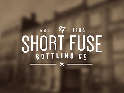 Short Fuse Bottling Co. script logo sf monogram logotype typography company bottling short fuse