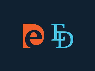 ED Monogram typography icon symbol ed monograms monogram