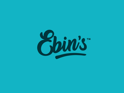 Ebin's sublime typography lettering custom mark word mark logotype logo ebin ebins