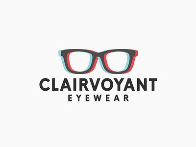 Clairvoyant Eyewear mark logo anaglyphic glasses eyewear clairvoyant