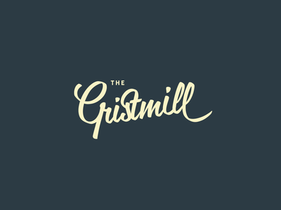 The Gristmill ligature word mark typography mark logotype logo lettering custom gristmill