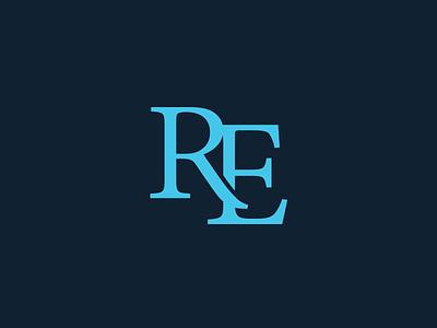 RE Monogram typography letter symbol monogram icon re