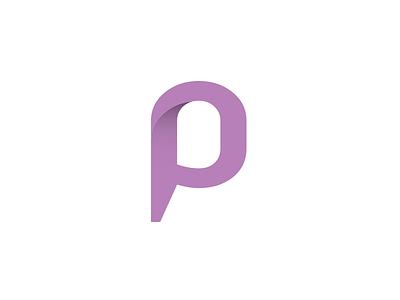 P identity symbol mark logo letter p