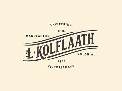 Kolflaath Manufactur lettering typography logo logotype vintage victoriahavn manufactur kolflaath norge norway narvik