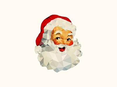 Low Poly Santa santa christmas delaunay identity illustration logo mark polygon triangulation low poly