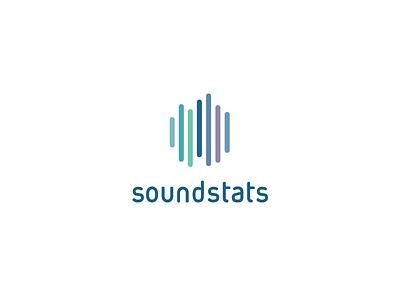 Soundstats statistics soundstats stats sound vu meter symbol mark logo identity