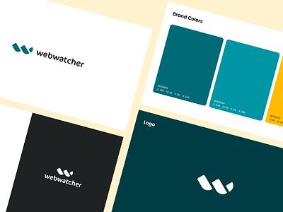 Webwatcher - Branding vector app design monitoring logo web branding