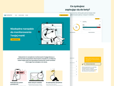 Webwatcher beta website web monitroing interface design app ux ui