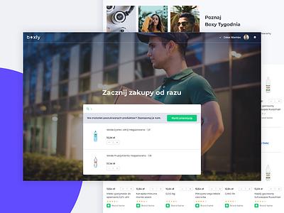 Boxly - Subscription Shop shop app interface ux design ui