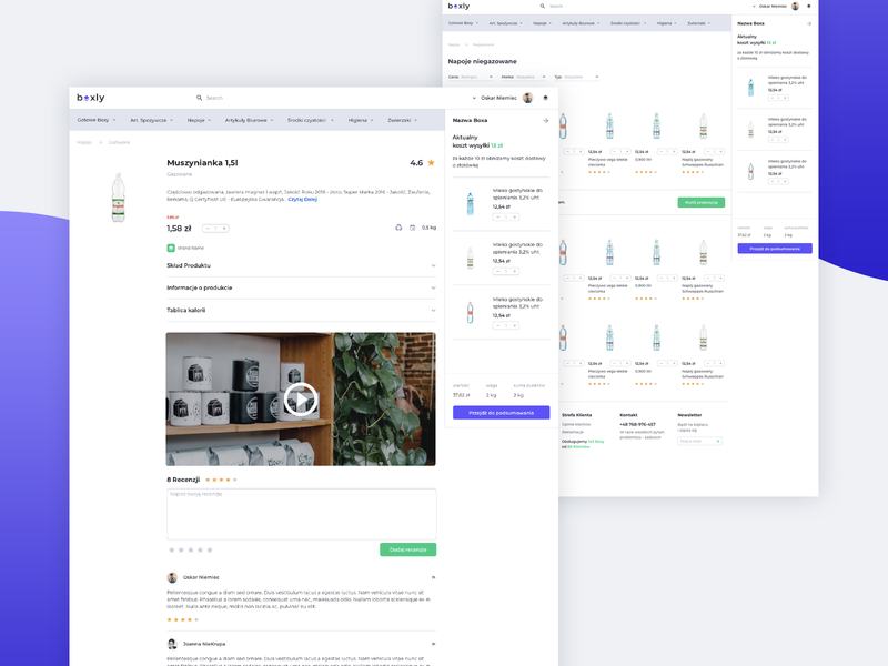 Boxly Product Page by Kacper Bieda | Dribbble | Dribbble