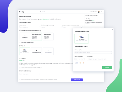 Summary Page - Boxly page web interface app design ux ui