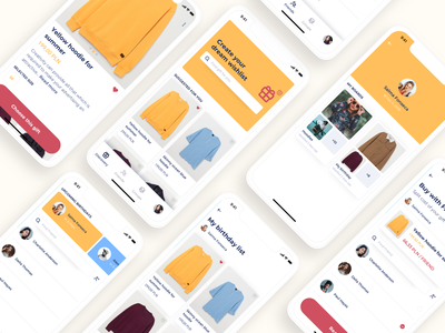Gifty - Split your gift cost with friends money cost split cloths app ux ui