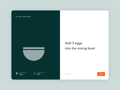 Thermomix app concept food app cooking cook food montion interface design app ux ui