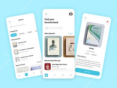 📚 E-Book Mobile App UI Design ui daily dribbble uiux ux daily mobile app design ux design graphic design 3d ui design vector branding logo illustration app design design app designer design ux ui