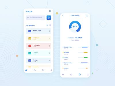 File Manager App UI Design uiux dribbble ux daily ui trends ui daily designers mobile app design graphic design ui design ux design app design design app designer design ux ui