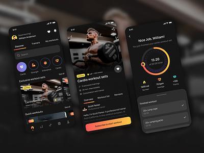 Fitness & Workout App Design branding illustration mobile app design design trends dribbble graphic design ux daily uiux ui trends ui design ux design app design design app designer design ux ui