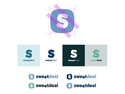 Sweetdeal Indetity icon logo identity mark type branding logotype colors flat simple