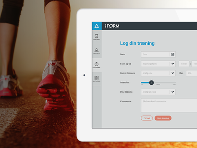 iForm Challenge - Log your workouts clean flat simple iform workout tracker bodybuilding exercise tracking sport fitness running